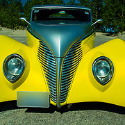 1939 Ford Custom on pavement