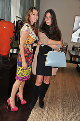 Left to right, SOFIA BARATTIERI and ELIZABETH SALTZMAN at an exclusive preview of fashion label Fay latest collections held at 21 Collingham Road, London SW5 on 12th June 2012. *** Local Caption *** Image free to use for 1 year from image capture date as long as image is used in context with story the image was taken.  If in doubt contact us - info@donfeatures.com<br /> Left to right, SOFIA BARATTIERI and ELIZABETH SALTZMAN at an exclusive preview of fashion label Fay latest collections held at 21 Collingham Road, London SW5 on 12th June 2012.