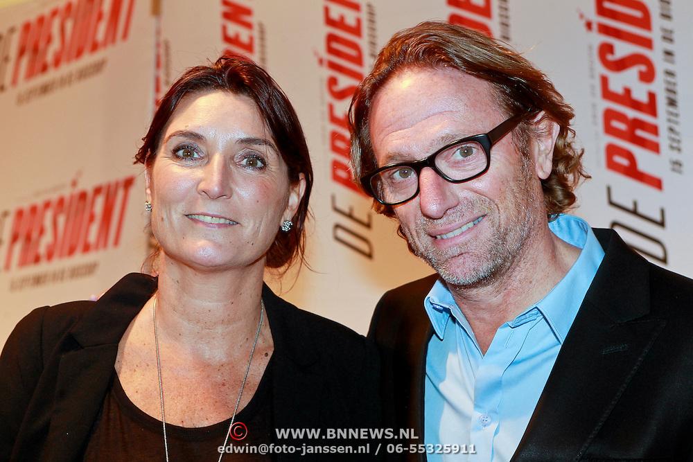 NLD/Amsterdam/20110907 - Premiere De President, Eric van Tijn en partner Teruska Bollen