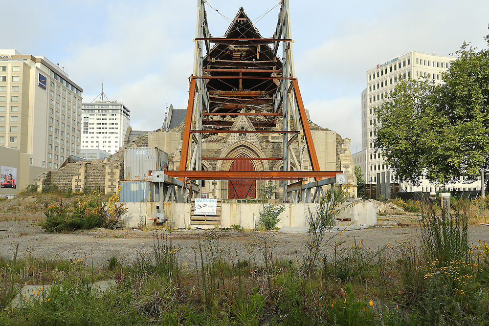 Earthquake damaged Christ Church Cathedral,  Christchurch, New Zealand, Friday, 06 November, 2015.  Credit: SNPA / Pam Carmichael