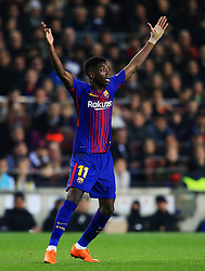 Ousmane Dembele of Barcelona appeals - Mandatory by-line: Matt McNulty/JMP - 14/03/2018 - FOOTBALL - Camp Nou - Barcelona, Catalonia - Barcelona v Chelsea - UEFA Champions League - Round of 16 Second Leg