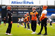 Cincinnati Bengals Quarterback Andy Dalton (14) during the training session for Cincinnati Bengals at Allianz Park, Hendon, United Kingdom on 25 October 2019.