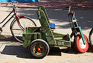 Hand powered trike in Baracoa, Guantanamo, Cuba.