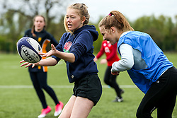 Girls Rugby Camp during the Worcester Warriors Easter Community Camps - Rogan Thomson/JMP - 13/04/2017 - RUGBY UNION - Sixways Stadium - Worcester, England.