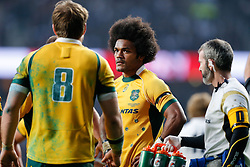 Australia Winger Henry Speight looks dejectes after England Number 8 Ben Morgan scores a try - Photo mandatory by-line: Rogan Thomson/JMP - 07966 386802 - 29/11/2014 - SPORT - RUGBY UNION - London, England - Twickenham Stadium - England v Australia - QBE Autumn Internationals.