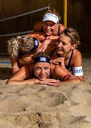 06-07-2018 NED: EC Beach teams Netherlands, The Hague<br /> Sanne Keizer NED, Madelein Meppelink NED, Joy Stubbe, Marleen van Iersel