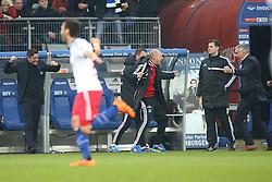 Football: Germany, 1. Bundesliga, Hamburg, 16.02.2014<br />Mirko Slomka coach and Oliver Kreuzer (Hamburger SV) goal celebration<br /> copyright: pixathlon