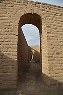 Rebuilt ruins at Biblical birthplace of Abraham near the Ziggurat, next to the Tallil Airbase in Iraq.<br /> Ur was the principal center of worship of the Sumerian moon god Nanna. The Ziggurat in Ur is the largest in Iraq . Next to it are the ruins of  what is thought to be Abraham's home. The archeological site will be returned to the Iraqis May 13 2009, along with the rest of Dhi Qar province
