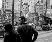 Mural of Frank Rizzo for a photo project entitled In Plain Sight : Public Art in Philadelphia by Ed Hille