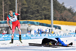 REPTYUKH Ihor UKR LW8, ARENDZ Mark CAN LW6 competing in the ParaBiathlon, Para Biathlon at  the PyeongChang2018 Winter Paralympic Games, South Korea.