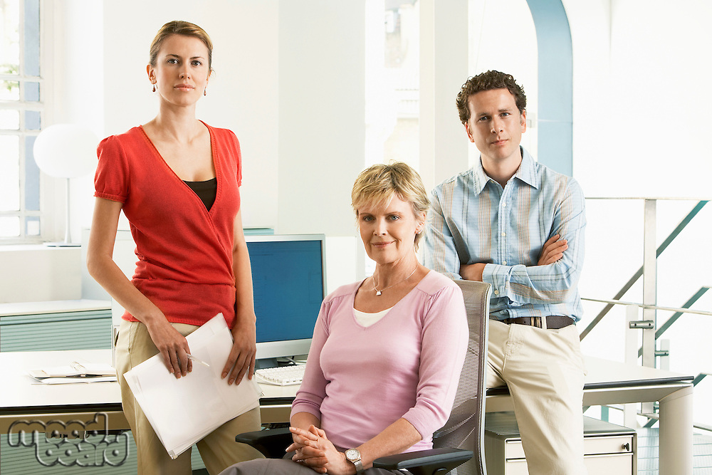 Small group of office workers portrait
