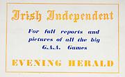 All Ireland Senior Hurling Championship Final,.01.09.1957, 09.01.1957, 1st September 1957,.Minor Kilkenny v Tipperary, .Senior Kilkenny v Waterford, Kilkenny 4-10.Waterford 3-12,..Advertisement, Irish Independent, Evening Herald,