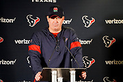 Houston Texans Head Coach Bill O'Brien during the media day / training session / press conference for Houston Texans at London Irish Training Ground, Hazelwood Centre, United Kingdom on 1 November 2019.