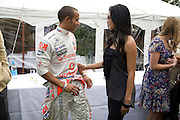 Lewis Hamilton and Nicole Scherzinger, The Cartier Style et Luxe Concours lunch at the Goodwood Festival of Speed. July 13, 2008  *** Local Caption *** -DO NOT ARCHIVE-© Copyright Photograph by Dafydd Jones. 248 Clapham Rd. London SW9 0PZ. Tel 0207 820 0771. www.dafjones.com.
