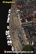 aerial photograph of  York Yorkshire England UK.  Drone style aerial view taken in York Great Britain