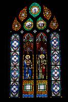 France, Finistère (29), étape sur le chemin de Saint-Jacques de Compostelle, enclos paroissial de Saint-Thegonnec // France, Briitany, Finistere, Saint Thegonnec church