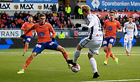 Fotball , 09 November 2019 , OBOS-Ligaen, Aalesund - Sandefjord , XYZ<br /> <br /> Daniel Leo Gretarsson , Aalesund<br /> Daníel Leó Grétarsson<br /> Pontus Engblom , Sandefjord<br /> , Foto: Srdan Mudrinic, Digitalsport