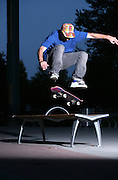 Skateboarder Brent Tumbleson in Alaska.