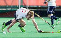ROTTERDAM -  James Oates (Eng).   Test Match Hockey : Netherlands Boys U18  v England U18 .  .  COPYRIGHT KOEN SUYK