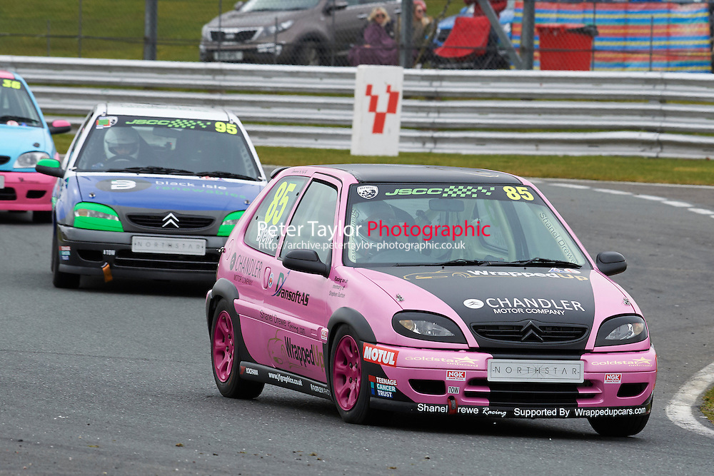 #85 Shanel DREWE Citroen Saxo VTR 1600 during Junior Saloon Car Championship as part of the BARC NW - Championship Raceday  at Oulton Park, Little Budworth, Cheshire, United Kingdom. March 19 2016. World Copyright Peter Taylor/PSP. Copy of publication required for printed pictures.  Every used picture is fee-liable. http://archive.petertaylor-photographic.co.uk