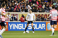 20 October 2012: Annike Krahn (GER). The United States Women's National Team played the Germany Women's National Team at Toyota Park in Bridgeview, Illinois in a women's international friendly soccer match. The game ended in a 1-1 tie.