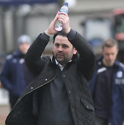 Dundee manager Paul Hartley acclaims the applause of the fans as he makes his debut as Dundee manager - Dundee v Hamilton, SPFL Championship at <br /> Dens Park<br /> <br />  - &copy; David Young - www.davidyoungphoto.co.uk - email: davidyoungphoto@gmail.com