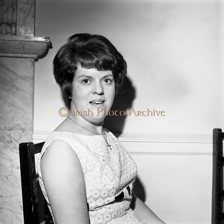 23/11/1964<br /> 11/12/1964<br /> 23 November 1964<br /> <br /> 19 Sales Girls from various parts of Ireland, at a Presentation in the Royal Hibernian Hotel <br /> <br /> Miss Pauline Dykes, Winstons, Dublin