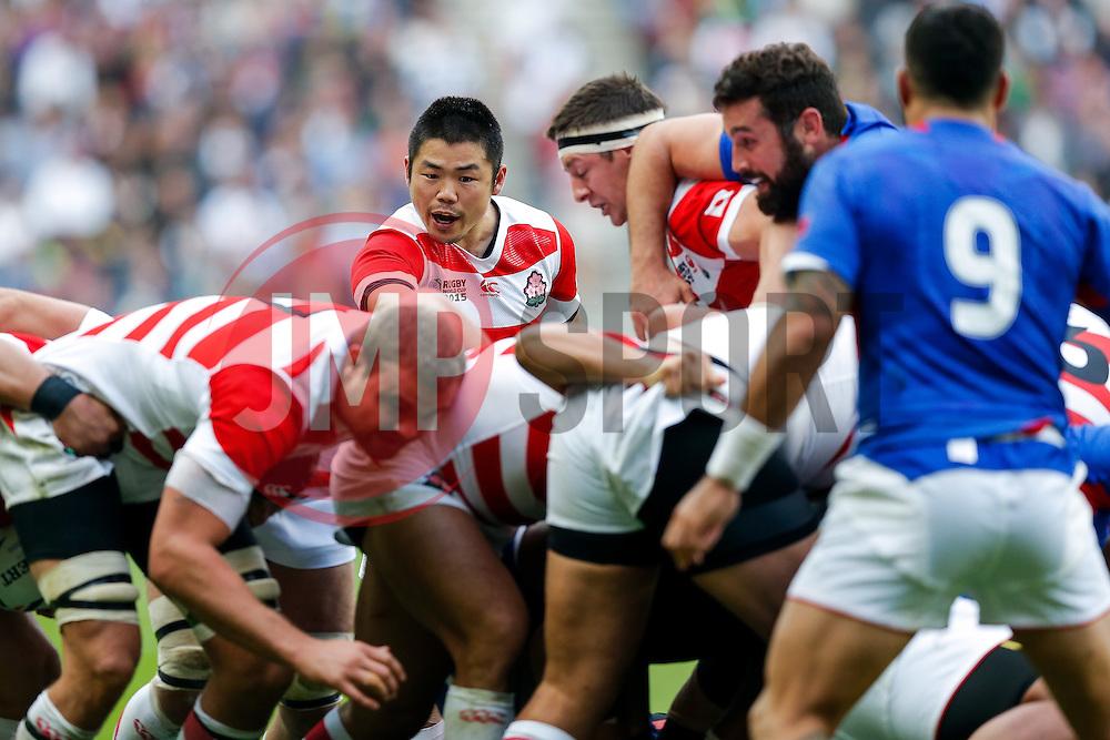 Japan Scrum-Half Fumiaki Tanaka - Mandatory byline: Rogan Thomson/JMP - 07966 386802 - 03/10/2015 - RUGBY UNION - Stadium:mk - Milton Keynes, England - Samoa v Japan - Rugby World Cup 2015 Pool B.