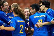 Katowice, Poland - 2017 September 02: Partner Alessia Siciliano from SO Italy with her teammates celebrate victory after SO Italy versus SO Belarus match during European Unified Volleyball Tournament 2017 at Spodek Hall on September 02, 2017 in Katowice, Poland.<br /> <br /> Adam Nurkiewicz declares that he has no rights to the image of people at the photographs of his authorship.<br /> <br /> Picture also available in RAW (NEF) or TIFF format on special request.<br /> <br /> Any editorial, commercial or promotional use requires written permission from the author of image.<br /> <br /> Image can be used in the press when the method of use and the signature does not hurt people on the picture.<br /> <br /> Mandatory credit:<br /> Photo by © Adam Nurkiewicz / Mediasport