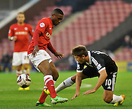 Picture by Richard Land/Focus Images Ltd +44 7713 507003<br /> 27/08/2013<br /> Kelvin Etuhu of Barnsley and Gaston Ramirez of Southampton during the Capital One Cup match at Oakwell, Barnsley.