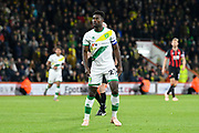 Alexander Tettey (27) of Norwich City during the EFL Cup 4th round match between Bournemouth and Norwich City at the Vitality Stadium, Bournemouth, England on 30 October 2018.