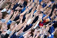 Fotball , 26. mai 2008 , Tippeligaen , Eliteserien , Stabæk - Aalesund 2-1<br /> illustasjon , stabæk - fans , fan tilskuere , supportere , hender , hånd arm , armer