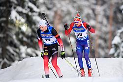 March 9, 2019 - –Stersund, Sweden - 190309 Vetle SjÃ¥stad Christiansen of Norway and Timofei Lapshin of Korea Republic competes in the Men's 10 KM sprint during the IBU World Championships Biathlon on March 9, 2019 in Östersund..Photo: Petter Arvidson / BILDBYRÃ…N / kod PA / 92252 (Credit Image: © Petter Arvidson/Bildbyran via ZUMA Press)
