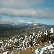A view of Mt. Washington in the Presidential Range in early winter