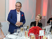 Actress Naomi Watts and luxury jeweler Nirav Modi, left, attend a dinner to celebrate the opening of the first Nirav Modi boutique in the U.S., Tuesday, Sept. 8, 2015, in New York.  (Photo by Diane Bondareff/AP Images for Nirav Modi)