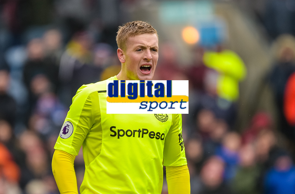 Football-2017/2018 Premier League - Burnley v  Everton <br /> <br /> Jordan Pickford of Everton celebrates at Turf Moor.<br /> <br /> COLORSPORT