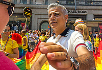 Gay Pride Parade, London, UK, Saturday 7th July 2018.