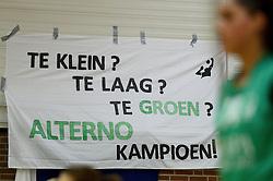 12-04-2014 NED: Finale vv Alterno - Sliedrecht Sport, Apeldoorn<br /> Alterno pakt het kampioenschap door Sliedrecht voor de derde maal te verslaan / Spandoen Alterno, valg