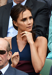 Image licensed to i-Images Picture Agency. 06/07/2014. London, United Kingdom. Victoria Beckham  in the Royal Box  at the Wimbledon Men's Final.  Picture by Andrew Parsons / i-Images