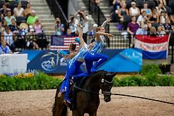 BÜTTIKER Nadja (SUI), N?F Ramona (SUI), BIERI Elisabeth (SUI), KOLLER Aline (SUI), SEILER Kyra (SUI), KOLLER Samira (SUI), Rayo de la Luz<br /> Tryon - FEI World Equestrian Games™ 2018<br /> Team SUI Luetisburg Team<br /> Nations Team Vaulting Championship<br /> 19. September 2018<br /> © www.sportfotos-lafrentz.de/Stefan Lafrentz