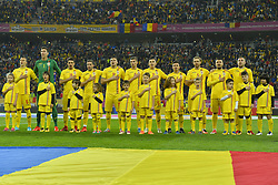 November 14, 2017 - Bucharest, Romania - Romania's team pose before the International Friendly match between Romania and Netherlands at National Arena Stadium in Bucharest, Romania, on 14 november 2017. (Credit Image: © Alex Nicodim/NurPhoto via ZUMA Press)
