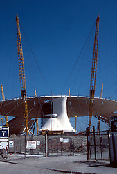 © under license to London News Pictures. ..The Millennium Dome  roof going on early in 1998.. Picture credit should read Grant Falvey/London News Pictures...