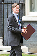 © Licensed to London News Pictures. 08/07/2014. Westminster, UK Dominic Grieve QC, Conservative MP, Attorney General,  leaving Downing Street today 8th July 2014 after the weekly cabinet meeting. Photo credit : Stephen Simpson/LNP