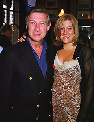 MR BRODERICK MUNRO-WILSON and MISS SALLY RICEMAN,  at a party in London on 24th May 1999.MSJ 16