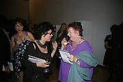 RUBY WAX  AND JO BRAND, ' Show Off' Theo Fennell exhibition co-hosted wit Vanity Fair. Royal Academy. Burlington Gdns. London. 27 September 2007. -DO NOT ARCHIVE-© Copyright Photograph by Dafydd Jones. 248 Clapham Rd. London SW9 0PZ. Tel 0207 820 0771. www.dafjones.com.