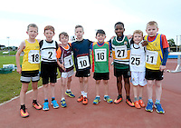 21 Aug 2016:  U8 Boys 80m finalists.  2016 Community Games National Festival 2016.  Athlone Institute of Technology, Athlone, Co. Westmeath. Picture: Caroline Quinn
