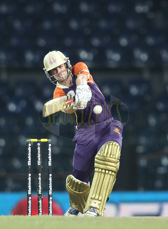 Daniel Harris of Ruhuna Royals attacks a delivery during match 20 of the Sri Lankan Premier League between Ruhuna Royals and Wayamba United held at the Premadasa Stadium in Colombo, Sri Lanka on the 26th August 2012. .Photo by Shaun Roy/SPORTZPICS/SLPL
