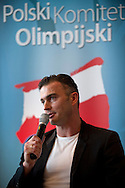Marcin Zewlakow (former football player) during press conference before National Day of Sport 2013 at Olympic Centre in Warsaw on October 17, 2013.<br /> <br /> Poland, Warsaw, October 17, 2013<br /> <br /> Picture also available in RAW (NEF) or TIFF format on special request.<br /> <br /> For editorial use only. Any commercial or promotional use requires permission.<br /> <br /> Mandatory credit:<br /> Photo by © Adam Nurkiewicz / Mediasport