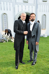 Left to right, ALEXANDER LEBEDEV and EVGENY LEBEDEV at the Raisa Gorbachev Foundation Party held at Stud House, Hampton Court Palace on 5th June 2010.  The night is in aid of the Raisa Gorbachev Foundation, an international fund fighting child cancer.