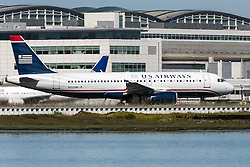 US Airways Airbus A320-232 (N652AW) on the runway before takeoff at San Francisco International Airport (SFO), Millbrae, California, United States of America